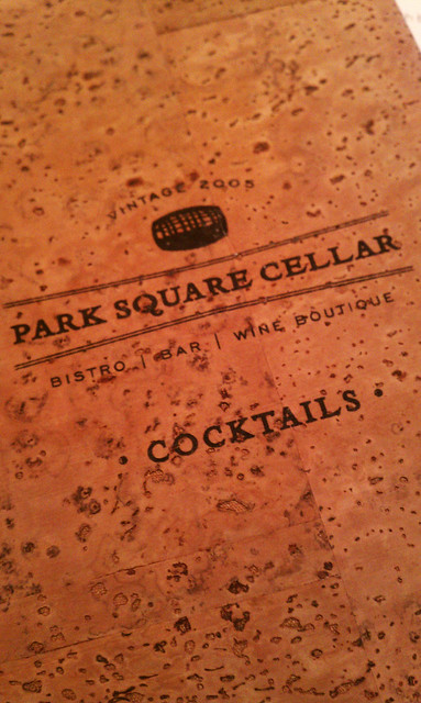 Park Square Cellar - Menu