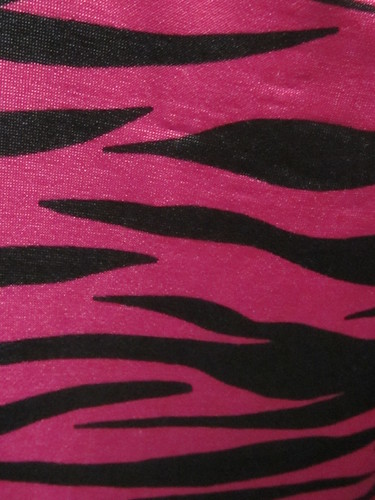 Pink and Black Zebra Print