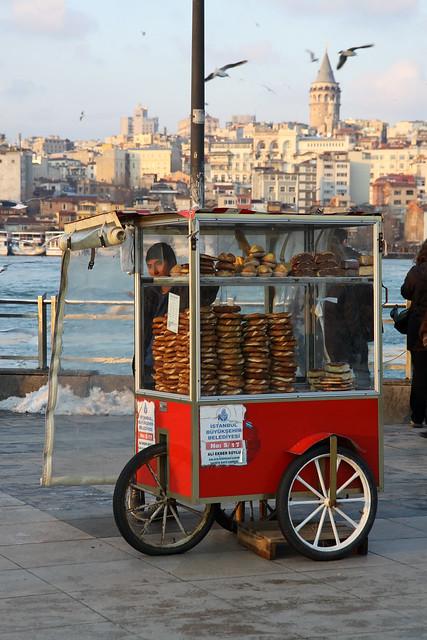 Simit Vendor Istanbul by Olga Irez of Delicious Istanbul