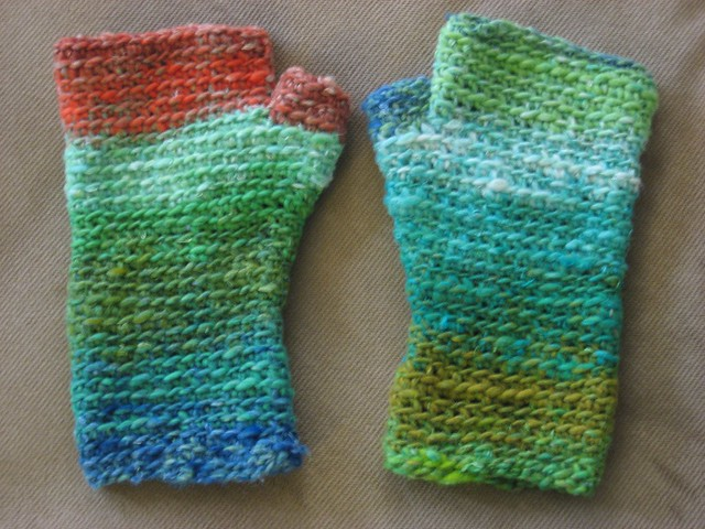 basic fingerless mittens in noro taiyo - finished Flickr ...