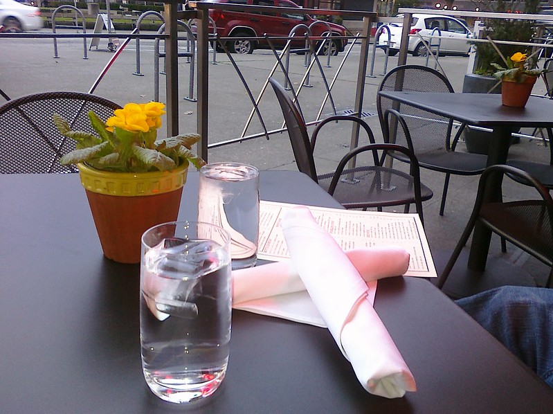 Cocktails outside at Seaview Bar, Seattle
