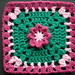"6"" Deep Pink Flower Treble Square"
