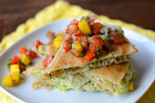 Pink Parsley: Crab & Avocado Quesadillas with Mango Salsa