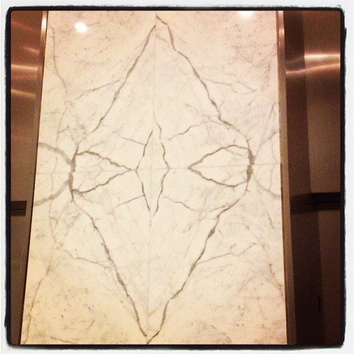 I always feel like this bit of the marble in the lobby is a sinister alien insect out to eat me