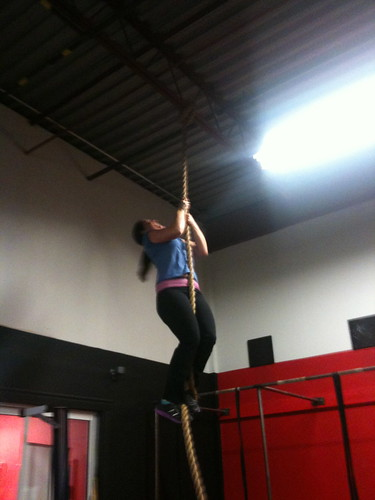 Jocelyn rope climb
