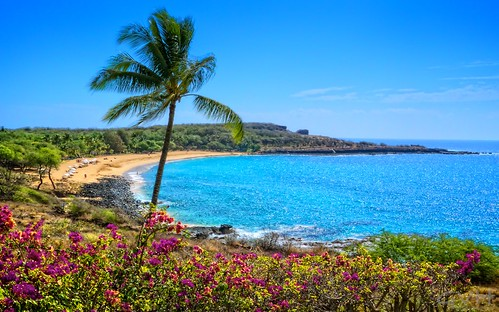 Lanai S Beautiful Hulopoe Beach Go Visit Hawaii