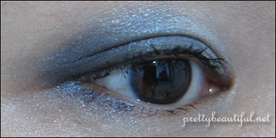 Dior 5-Color Eyeshadow Bleu de Paris Swatch on  Eye