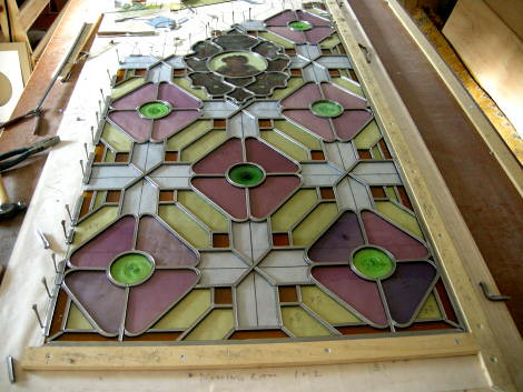 Stained glass conservation - work-in-progress