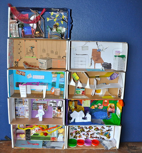 se7en 1 build an apartment block out of shoe boxes se7en. Black Bedroom Furniture Sets. Home Design Ideas