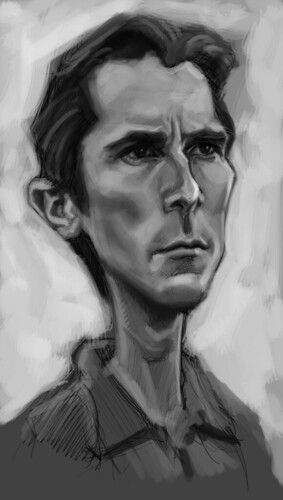 digital caricature of Christian Bale - 2