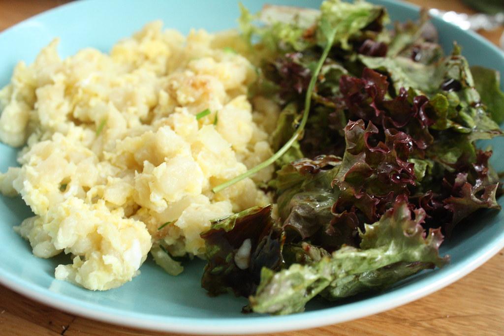 Eiernockerln mit Salat