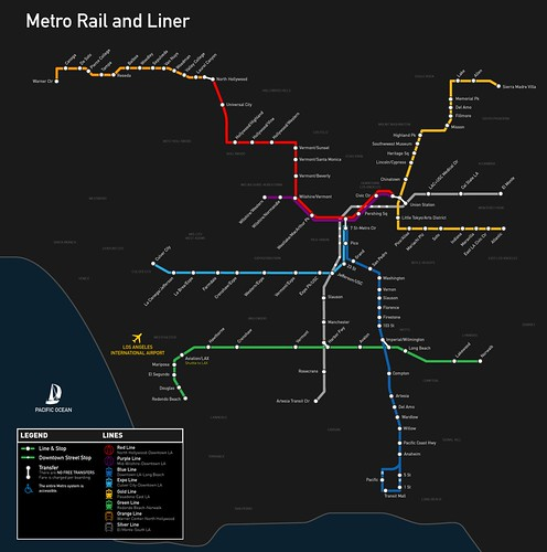 Metro Rail and Liner Map - Spring 2012
