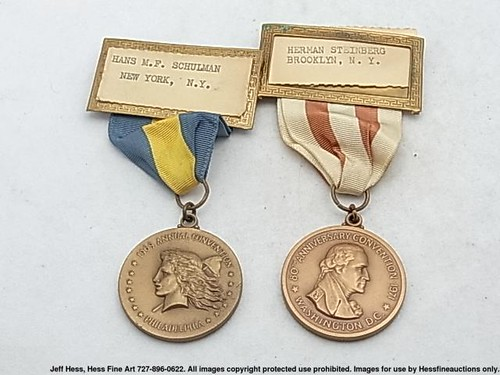 ANA Medals Hans Schulman and Herman Steinberg