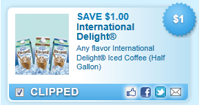 International Delight Iced Coffee (Half Gallon) Coupon