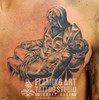 Jesus sleeps tattoo Tattooed by Johnny