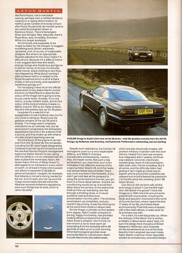 Rowan Atkinson Drives the Aston Martina Virage V8 Road Test 1990 (2)