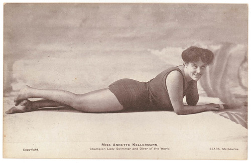 Pictorial post card, Miss Annette Kellermann, Champion Lady Swimmer and Diver of the World