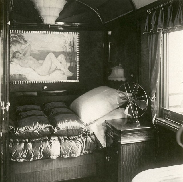 Slaapruimte in treinwagon Atatürk / Bed in railway carriage of Atatürk