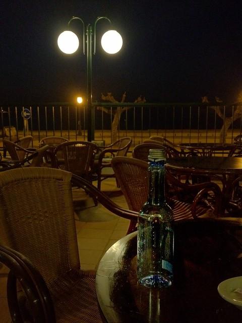 Botella y terraza