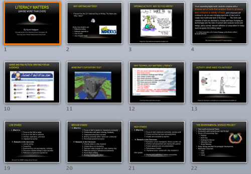 screenshot of Literacy Matters Presentation
