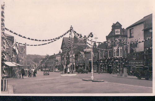 Old postcard of Market Place, Henley.