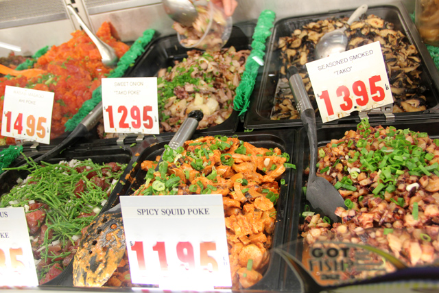 Selection of Different Raw Fish