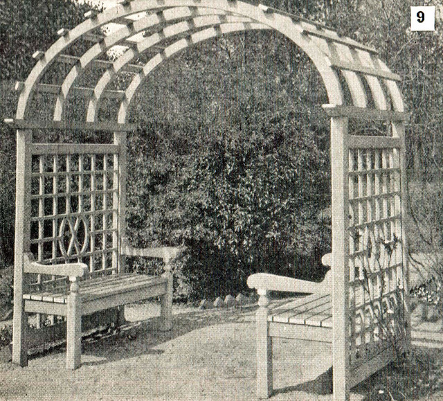 Nice Arbor With Benches Flickr Photo Sharing