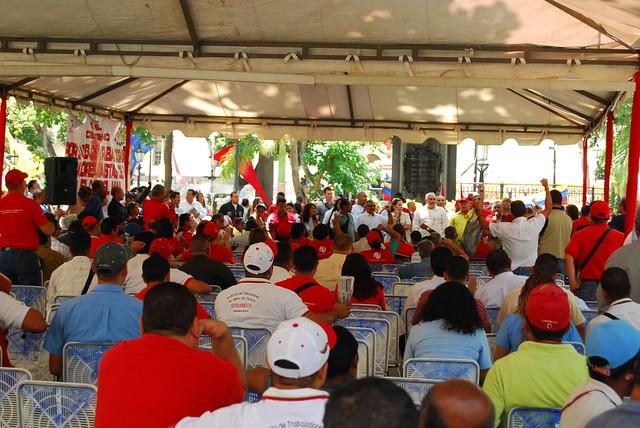 Venezuela- Asamblea de Trabadadores-as del campo y la ciudad en Plaza Bolívar, Caracas