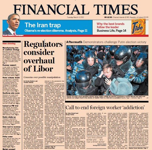 FT-front page 6 march 2012