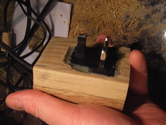 Wooden power plug casing