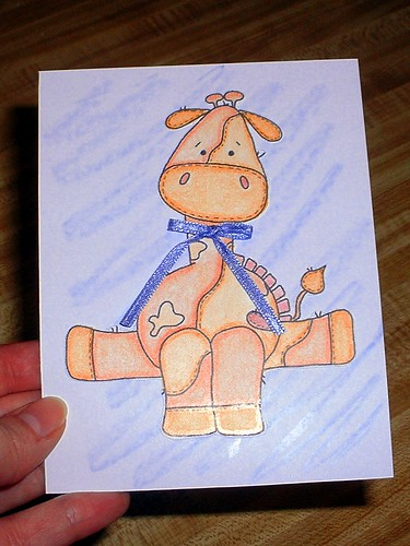 giraffe card for tommy