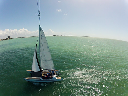 Off The Hook - Pictures from a Kite While Under Sail in Caxambas Pass - Marco Island Florida