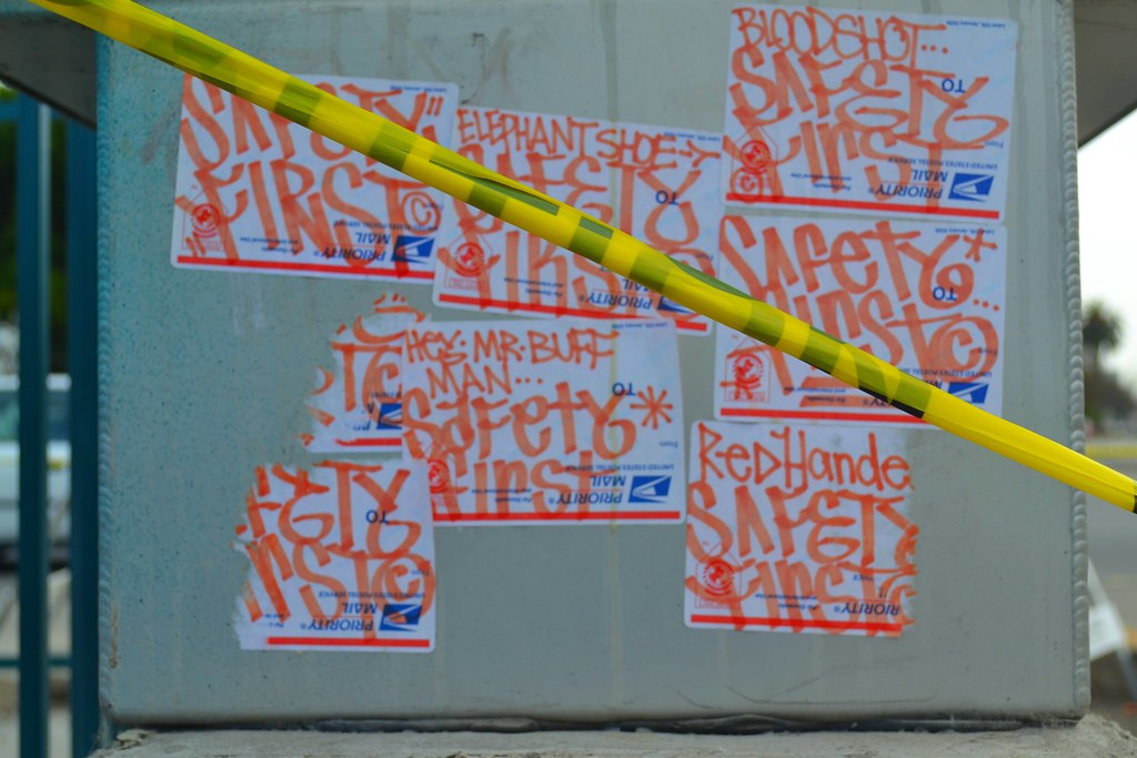 SAFETY FIRST, POP, BDS, Graffiti, Street Art, Oakland,