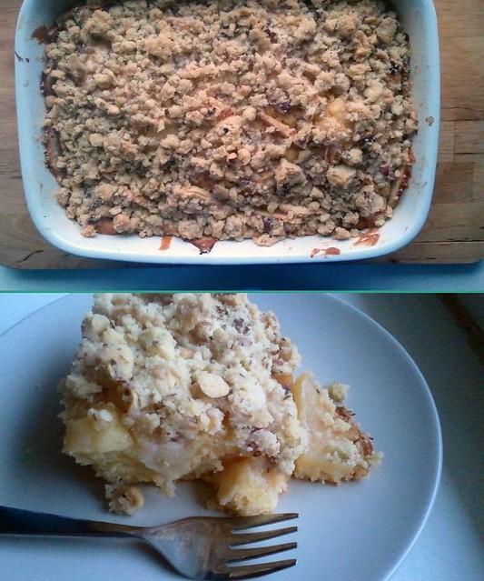 initiative sonntagssüß: apfelstreuselkuchen mit zimt & pudding