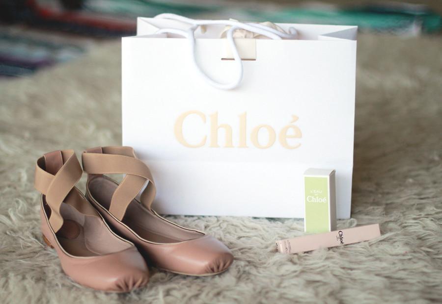Chloe ballet flats with straps, Chloe perfume, Chloe perfumed bubbles