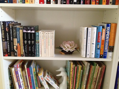 family bookshelves