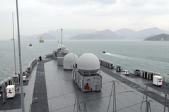 In this file photo, USS Blue Ridge arrives in Hong Kong during a port visit last year. (U.S. Navy photo by Mass Communication Specialist Seaman Recruit Ben Larscheid)