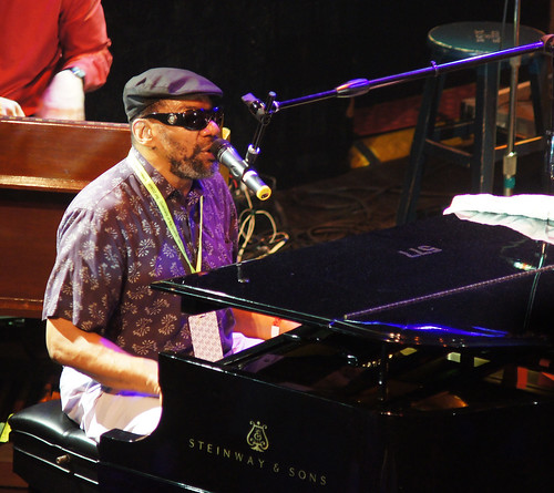 Henry Butler plays the main stage on Piano Night. photo Bill Sasser