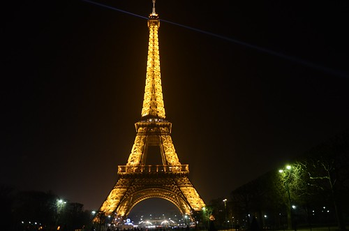 Eiffel tower, night