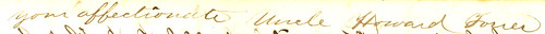 Howard Forrer to Henrietta Peirce, 9 June 1863 (signature)