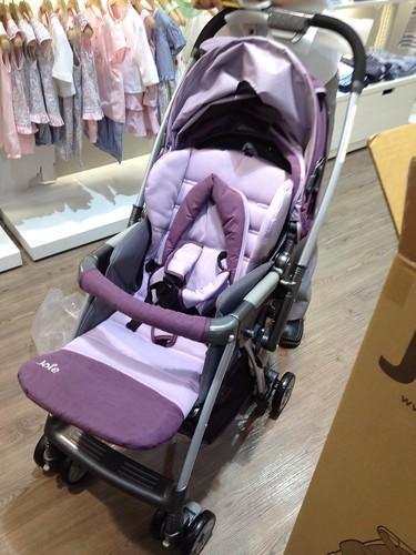 Joie雙向推車-紫色繡花