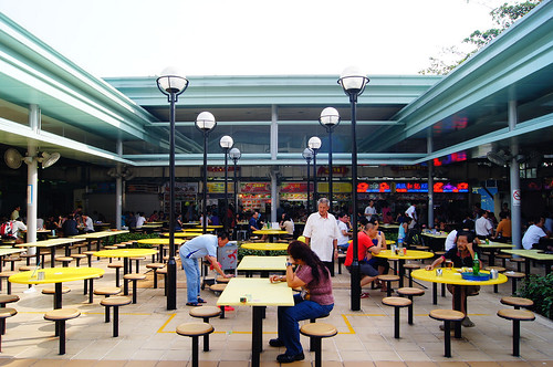 Alfresco dining at Pasir Panjang Food Centre