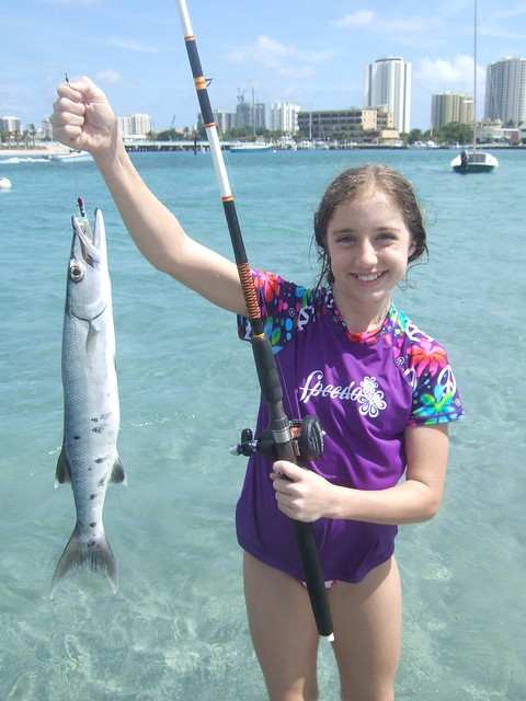 rachael with a barracuda