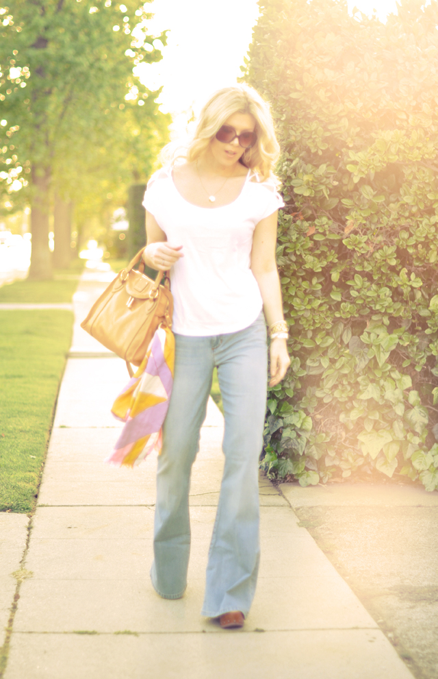 Faded 70's look-flares - bell bottoms
