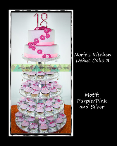 Norie's Kitchen - Debut Cake 3 in silver-purple-pink by Norie's Kitchen