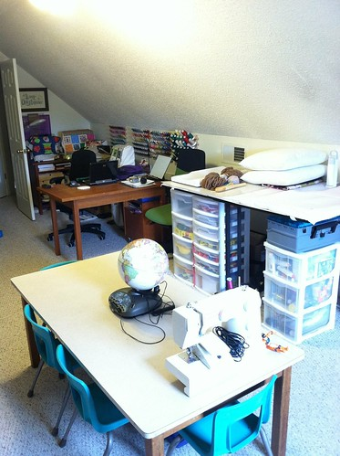 My studio and the classroom table