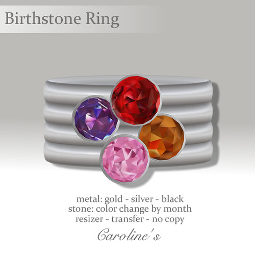 Caroline's Jewelry Stackable Birthstone Ring