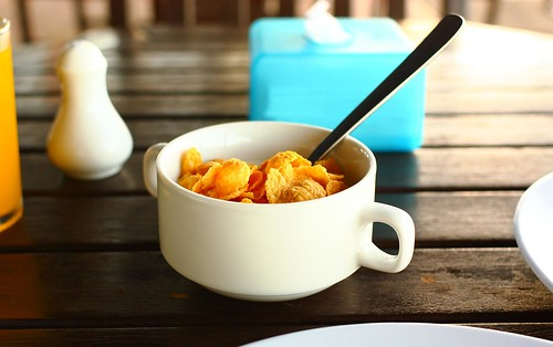 A simple cup of corn flakes
