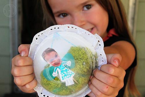 child's photo magnet craft