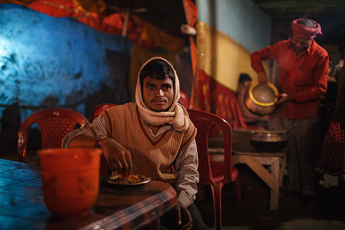 Late night meal - Sonepur, India